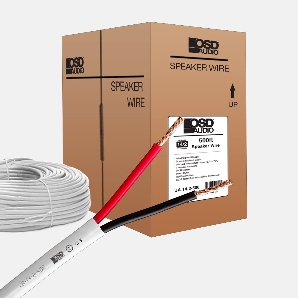 Daisy Chain Wiring Home Phone Osd 14 Gauge 2 Conductor 500ft Ul Cl3 Rated Oxygen Free In Wall Speaker Wire Pure Copper Direct Burial Graded Audio Theater