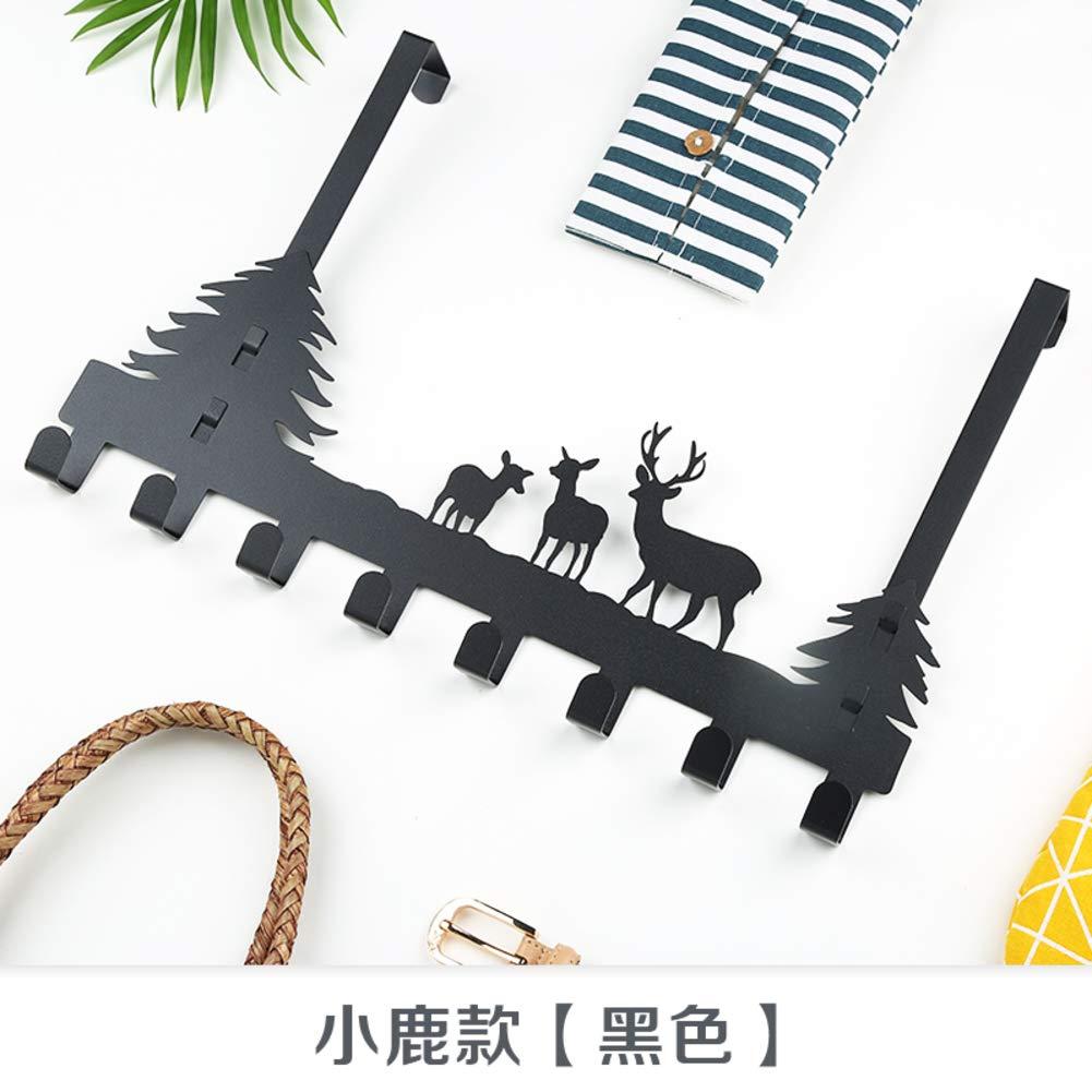 RYDS Thicken Carbon Steel Over The Door Hook, Creative Wall-Mounted Coat Hook Door Hook for Home Kitchen Bedroom-b