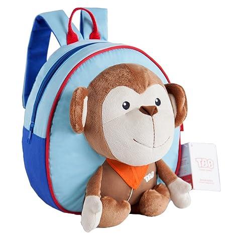 eonkoo nuevo 3d mono de peluche escuela bolsa mochila para ...