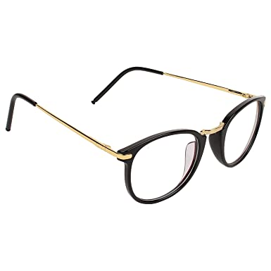 3644a3153c Clear Lens Black Frame Round Sunglasses for Men and Women  Amazon.in   Clothing   Accessories