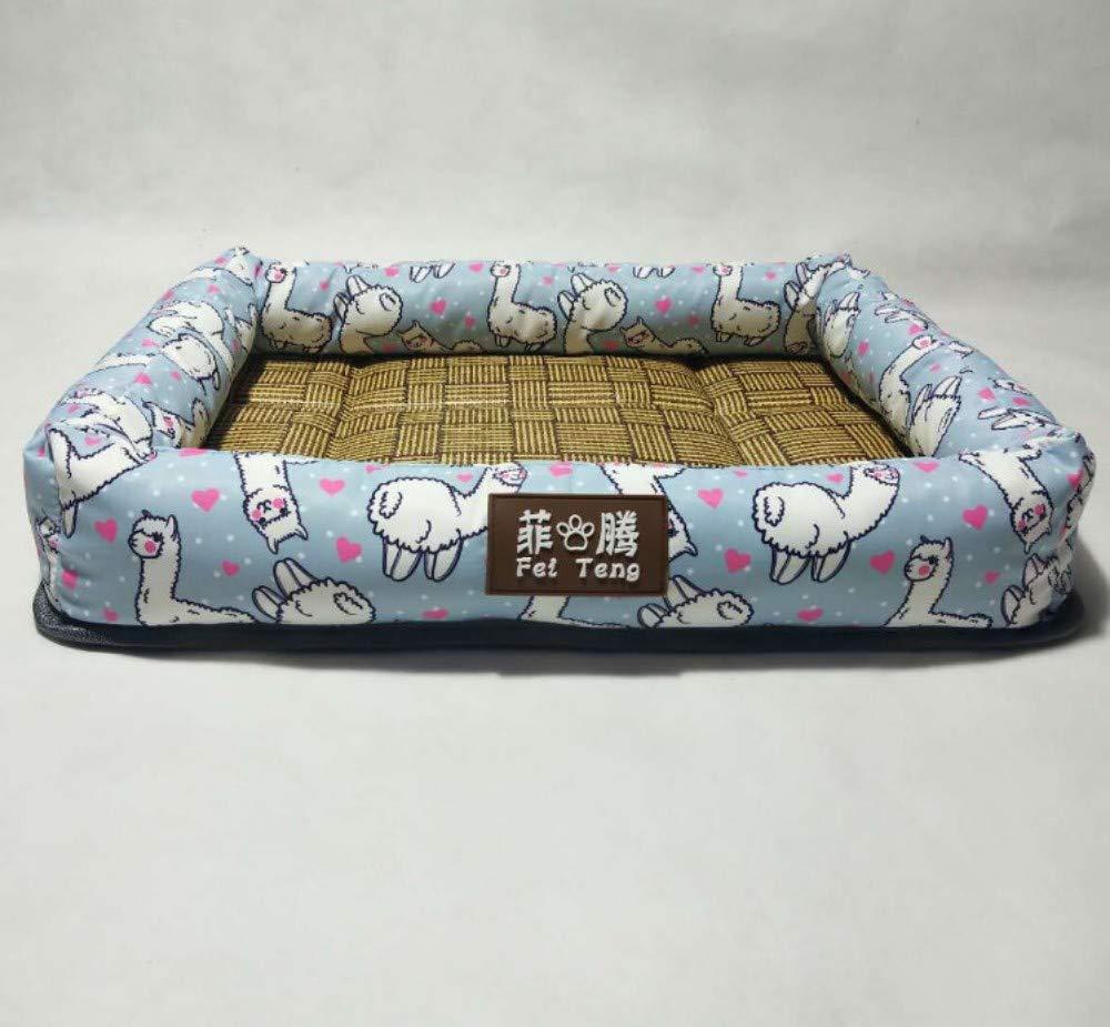 A 60X72X10CM A 60X72X10CM GZDXHN Kennel Summer Breathable Comfortable Cat Nest Mat Teddy Dog Mat Small And Medium Dog Pet Nest