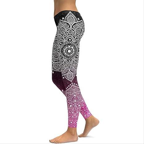 YGKDM Pantalones de Yoga Leggings de Fitness Mujeres ...