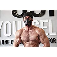 Masque d'Entraînement Masque Respiratoire Sport Masque d'Endurance Masque Fitness Masque de Course à Pied,Noir