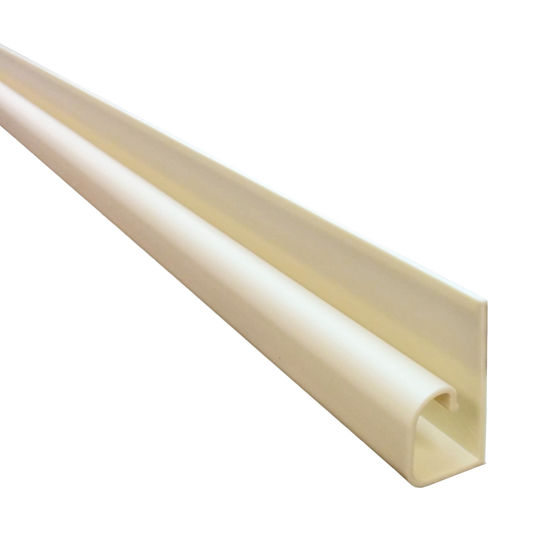 Small Hook Channel Cable Raceway - 20 Pieces - 59'' - Ivory by Electriduct