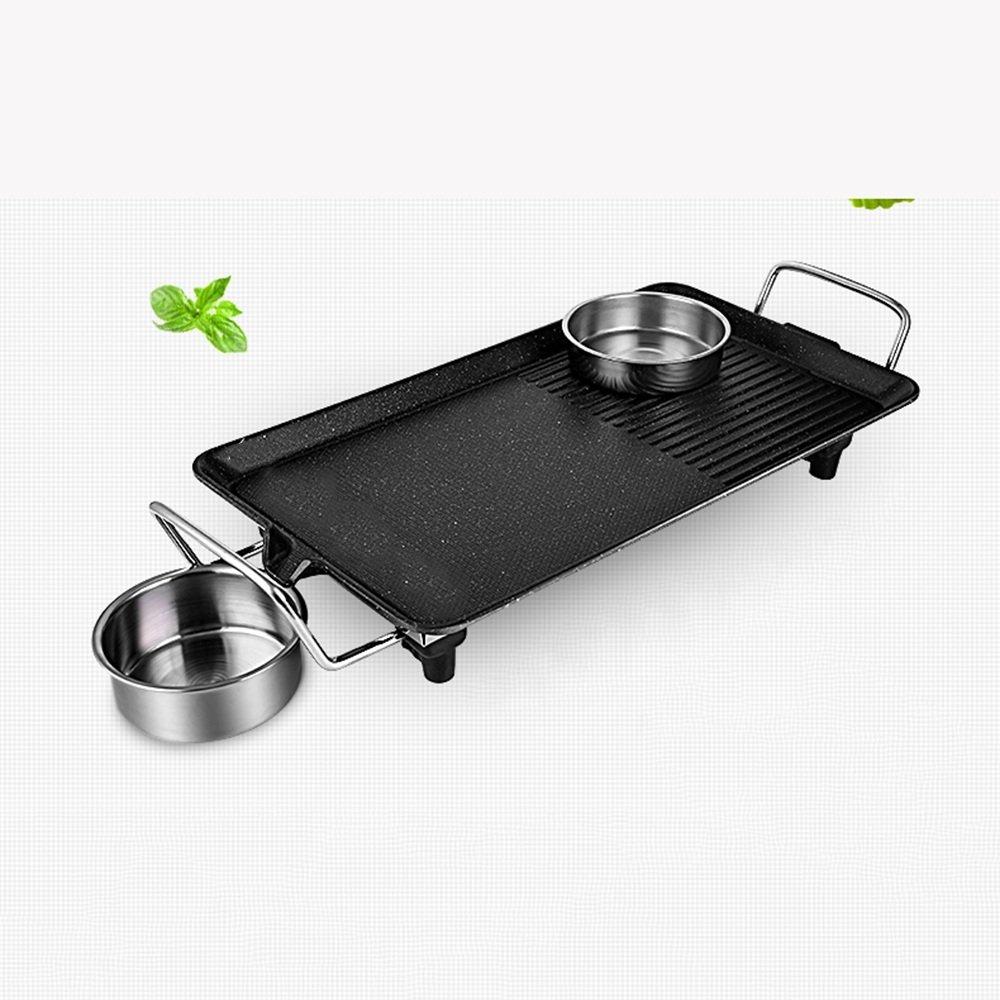 QFFL dainkaolu Barbecue-Ofen Smokeless Antihaft-Fach-elektrischer Grill-Haushalts-Eisen-Grill-Fleisch-Topf-elektrischer Ofen-Grill-Maschinen-elektrisches Backblech-Größe wahlweise freigestellt