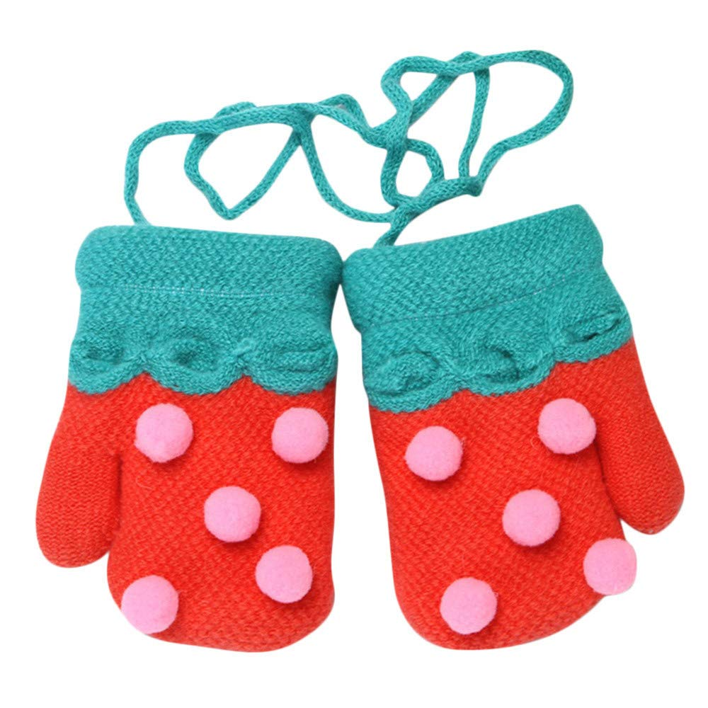 A-Artist Toddler Baby Glove Thicken Knitted Winter Warm Novelty Full Finger Gloves Set Cosy Thick Anti Scratch Rope Mittens Various Soft Mitten Stretch Accessories