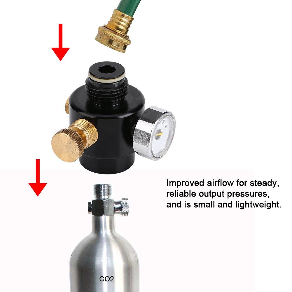 Fdit Mini CO2/R/égulateur de pression R/éducteur de pression portable alliage acier /& Compress R/égulateur de pression de lair sortie R/éducteur de pression CO2/R/égulateur de gaz de sortie 0 300Psi