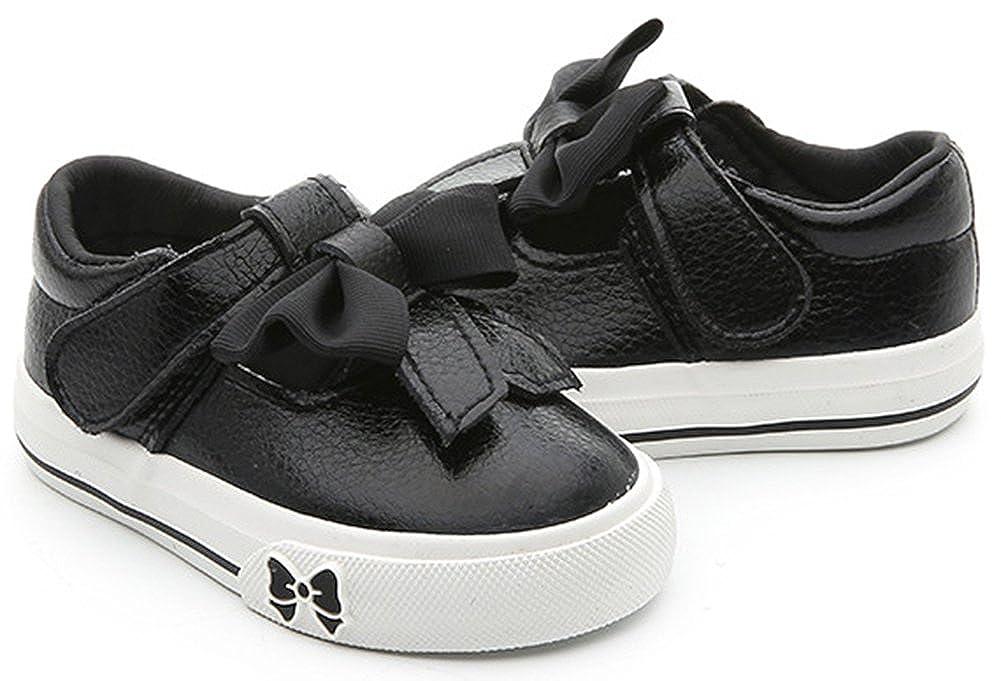 SFNLD InStar Girls Cute Bowknot Hook and Loop Sneakers Shoes