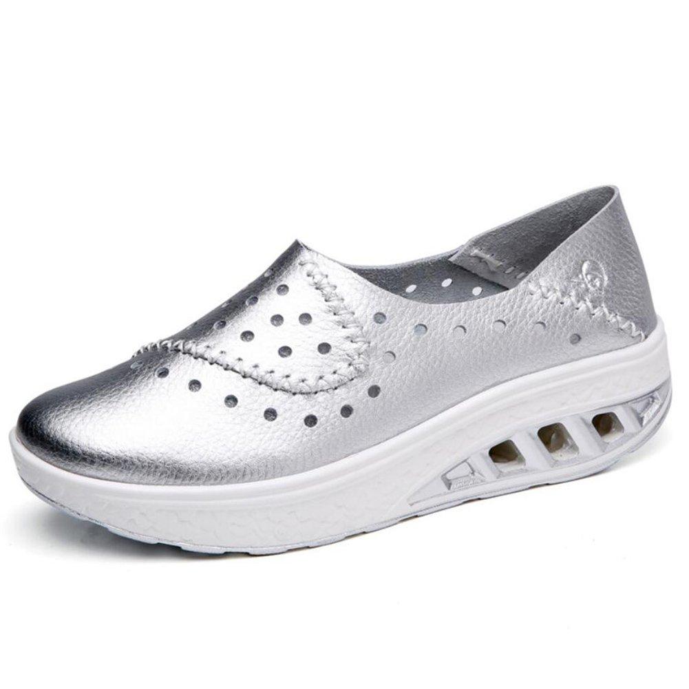 XUE Damenschuhe Leder Frühling Herbst Slipper & Slip-Ons Schuhe Driving Schuhes Fitness Shake Schuhe Slip-Ons Shake Schuhes Shaking Schuhe Flache Loafers Sneakers Sportschuhe Plateauschuhe (Farbe : EIN, Größe : 36) cdebd3