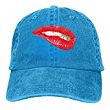 Sexy Lips Adult Cowboy Hat Baseball Cap Adjustable Athletic Make Your Own Funniest Hat for Men and Women