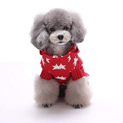 hpapadks dog christmas clothes christmas stars print pet dog puppy high collar warm clothes outwear