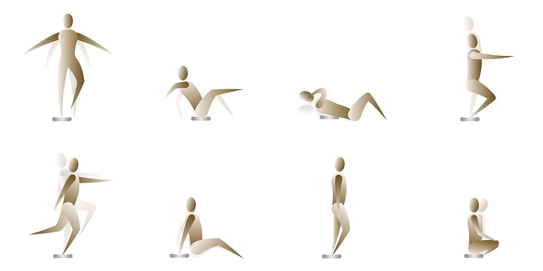 Rovera Coussin d/équilibre pour Pilates Gris Taille Unique