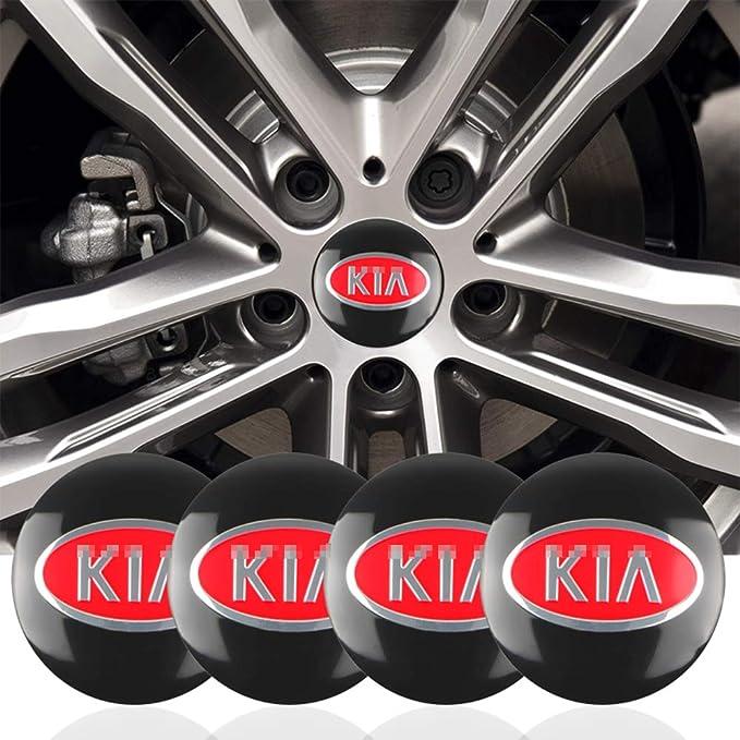Jtaccord Auto Rad Mitte Nabenkappen Emblem Abzeichen Aufkleber Für Kia Cerato Sportage R K2 K3 K5 Rot 56 Mm 4 Stück Set Küche Haushalt