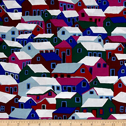 Brandon Mably Shanty Town Winter Fabric By The - Town Brandon