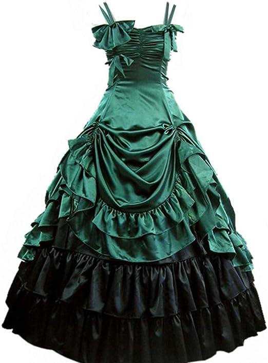 Retro Victorian Sleeveless Bowknot Asymmetric Prom Dress Cosplay Dress Ball Gown