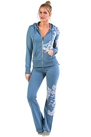 Vertigo Paris Women\'s Flower Vintage Lounge Tracksuit Jog Set ...
