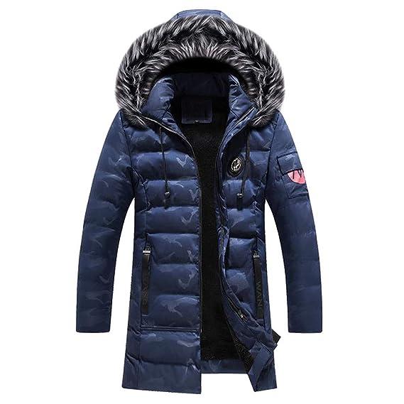 Amlaiworld Chaqueta de Invierno de Camuflaje para Hombre Overcoat Escudo Abrigos Delgado con Cremallera Larga Botones Abrigo de Lana M- XXXXL: Amazon.es: ...
