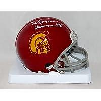 $125 » O. J. Simpson Signed USC Trojans Riddell Mini Helmet W/Heisman- JSA W Auth White
