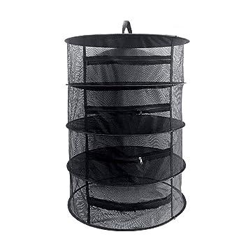 wird mit Pflanztasche und Aufbewahrungstasche mit Reißverschluss geliefert — Größe des Regals 55 x 77 cm — Tragfähigkeit bis zu 3 kg Mixtitude 4-fächriger Kräutertrockner zum Aufhängen für drinnen