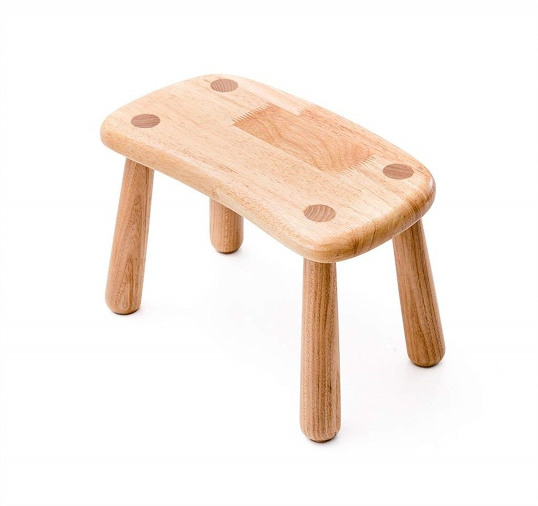Modern Solid Wood Stool Children'S Stool Small Bench Round Stool Low Stool Kindergarten Learning Bench For Shoes Bench (Size : 2917.520cm)