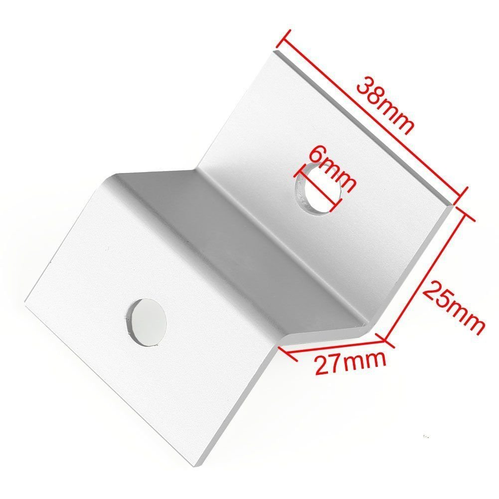Solar Panel Mounting Hardware Z Type Bracket Aluminum W//Stainless Bolt for RV Boat Off Grid 38mm Width Solar Panels Up to 80W F-ber 1 Set 4pcs