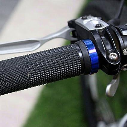 Andux Zone Pareja de Manillar Puños Cuerno Goma para Bicicleta Ciclismo Color ZXC-CB01 (negro): Amazon.es: Deportes y aire libre