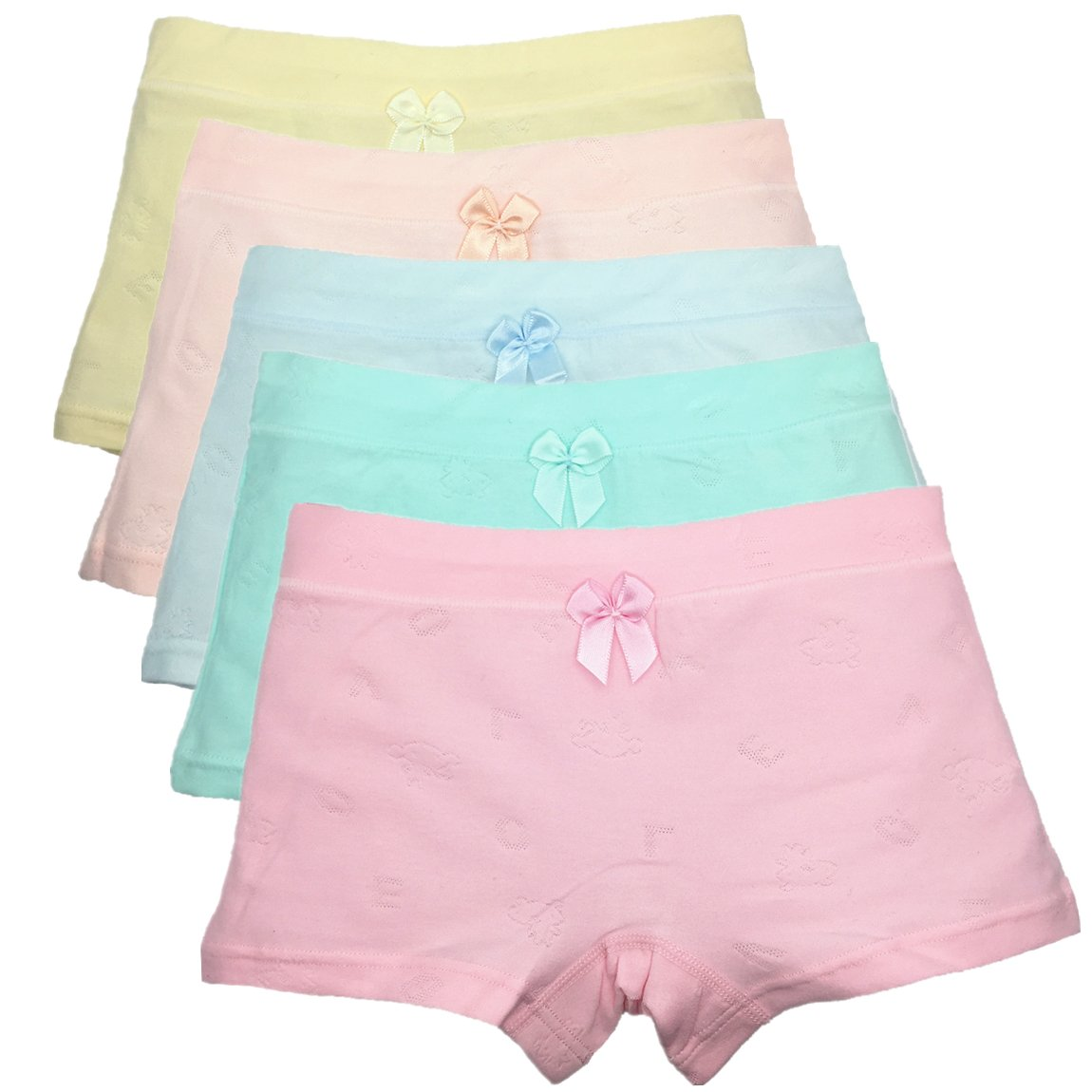 Girls' Boyshort Toddler Briefs Cotton Underwear 5pk Panties CzBonjour