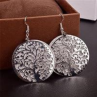 Hot Sale Alloy Round Dangle Tree Of Life Tribal Earrings 925 Sterling Hooks Jewellery Earings Gift