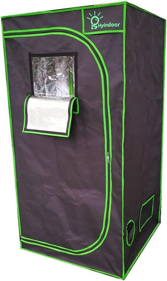 Hyindoor Armario Cultivo para Hidropónico Interior Tienda de Campaña de Crecer Plantas Invernadero Grow Box de Cultivo para Jardín 80 x 80 x 160 cm