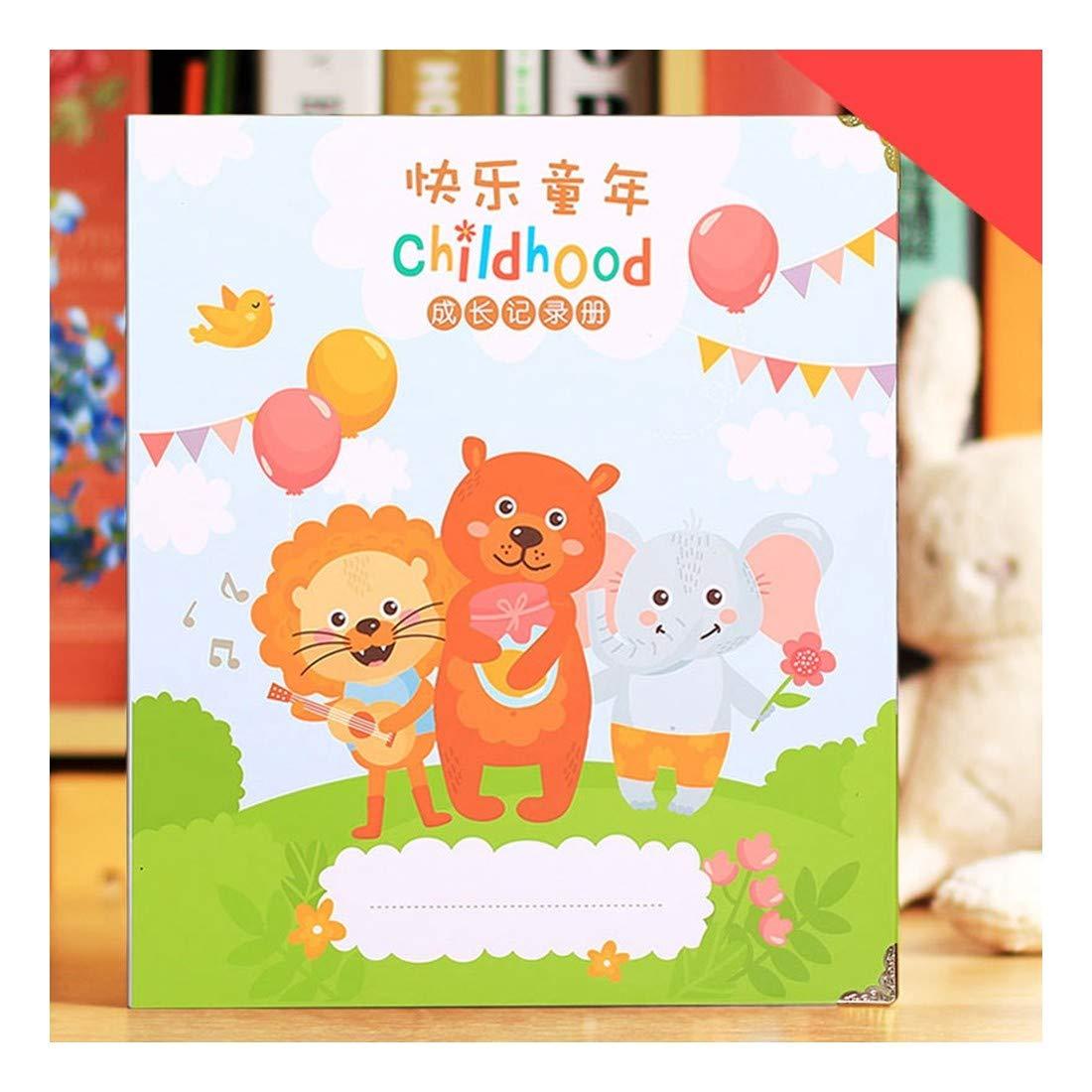 ZHAOXIANGXIANG Crecimiento De Kindergarten Archivo Manual DIY Familiar Álbum Diary Registros Manuales Infantiles Crecimiento Familiar DIY Álbum para Amante Bebé Scrapbooking Craft,1 35468d