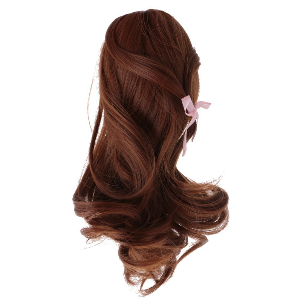Wig only!Wig Hairpiece Coffee Wave Curly Hair Wigs Fit 18''American Girl