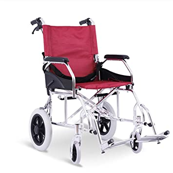 Amazon.com: Silla de ruedas de transporte plegable de ...