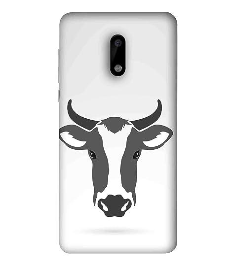 Printfidaa Cow Head Logo Vector in Cloud-Grey Colour: Amazon in