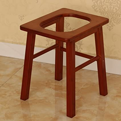 Amazon.com: XRXY Creative Bamboo Toilet Stool / Pregnant Women ...