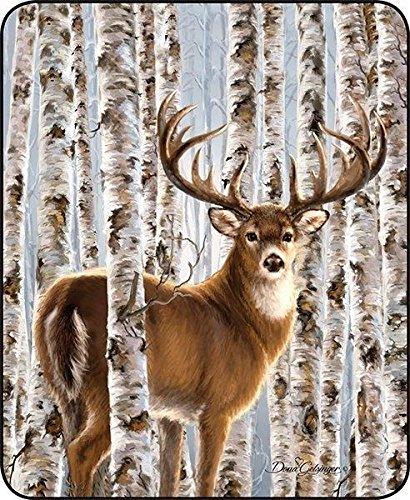 (Regal Comfort Birch White Tail Buck Faux Fur Blanket 79