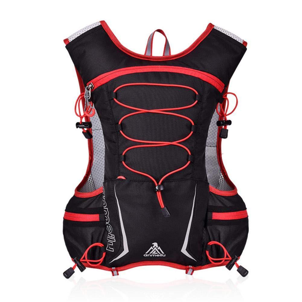 Flickering Hydration Pack Marathon Running Vest - Leak-Proof Hydration Reservoir Red