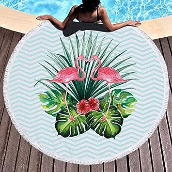 GSYAZTT Toallas de Playa Redondas Flamingo para Adultos Servilletas Toalla Playa Plaga Toallas Playa Toallas de Microfibra Suave Toallas Redondas Color9: ...
