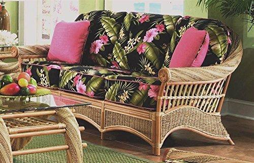 Sofa with Cushions (Solar Kiwi (All Weather)) by Spice Island Wicker