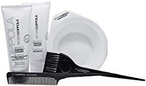 Peter Coppola Keratin Hair Treatment Kit - A Keratin Treatment at Home Use. Includes: Treatment (3oz) Shampoo (3oz) Bowl, Brush and Comb. Straightens and Smooths All Hair Types