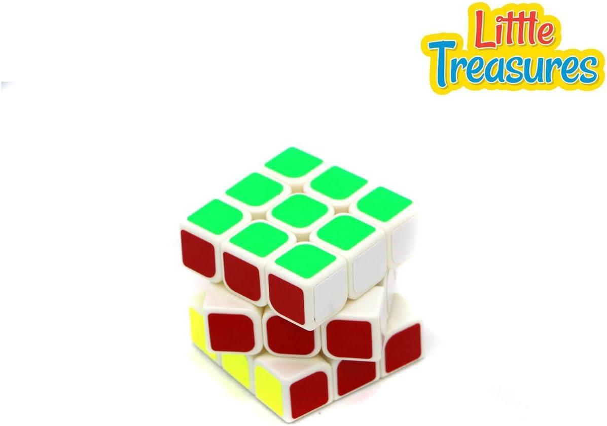 Little Treasures Twist & Turn Puzzle Cube White 3X3X3 Stickered Cube