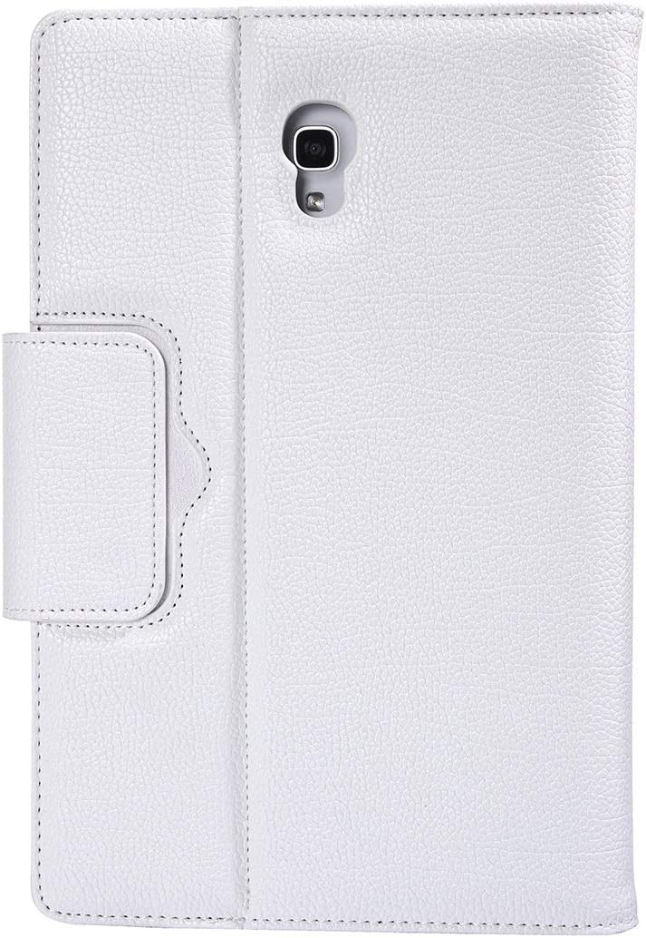 Je ideale keuze, geniet gewoon van het leven van de SA590 Bluetooth 3.0 Litchi Textura Afneembare leren doos van het Bluetooth-toetsenbord voor de lip; een 10,5 inch T590 / T595, met de titel:, Netto Wit