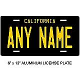 TEAMLOGO Personalized California License Plate - Sizes for Kid's Bikes, Cars, Trucks, Cart, Key Rings Version 4