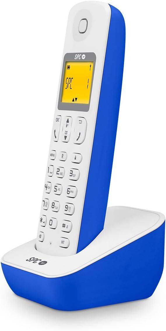 SPC AIR - Teléfono fijo inalámbrico, color azul: Amazon.es: Electrónica