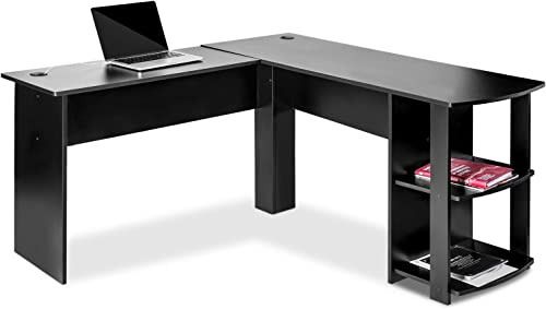 Knocbel Home Office L-Shaped Corner Computer Desk Writing Table Workstation