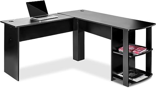 Knocbel Home Office L-Shaped Corner Computer Desk Writing Table Workstation
