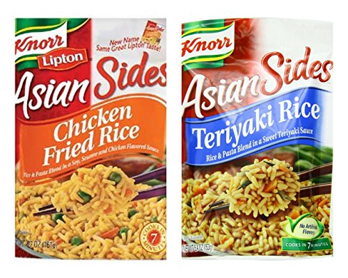 Knorr Asian Sides Variety Bundle, 5.4-5.7 oz (Pack of 6) includes 3-Bags (Fried Rice Noodles)