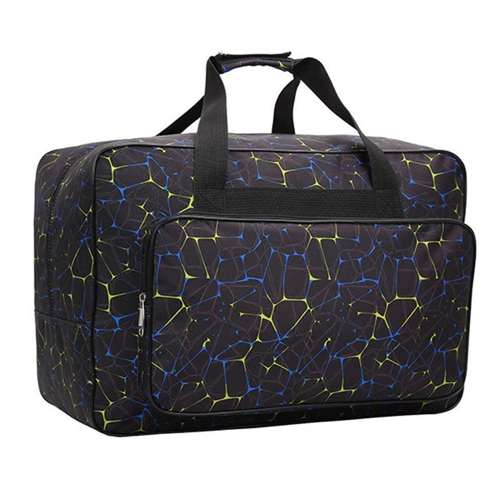 Foldable Sewing Machine Carry Case Blue Padded Storage Cover Carrying Case with Pockets and Handles Sewing Machine Tote Bag