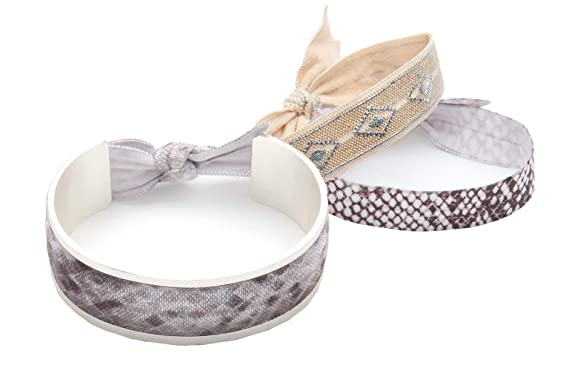 BANDED - Hair Tie Cuff Bracelet (Silver) with Hair Ties at Amazon ... b5699bcb1b5