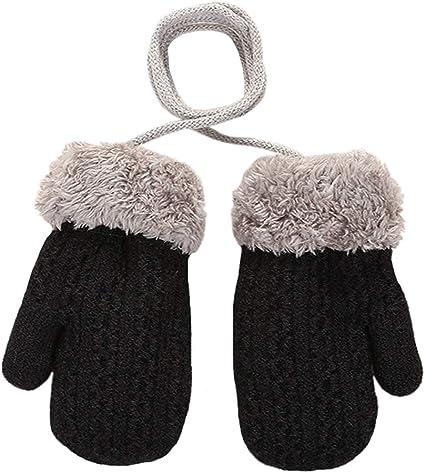 Baby Toddlers Knit Gloves Cold Weather Winter Thicken Warm Fleece Mittens Gloves