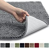 Kyпить Gorilla Grip The Original Shaggy Chenille Bathroom Rug Mat, 3 Sizes and 10 Colors, Extra Soft and Absorbent, Machine-Washable, Perfect for Bath, Tub, and Shower (Gray, 30